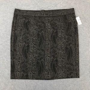 Gap 1969 snake print pencil skirt